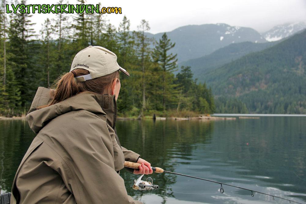 Ørredfiskeri i Weaver Lake