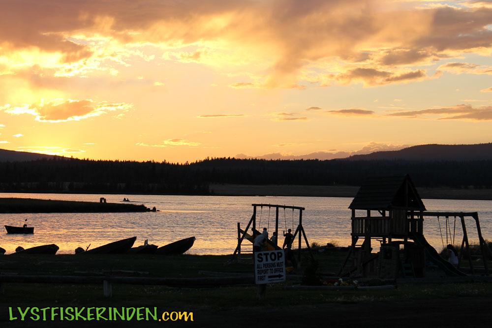 Aften ved Tunkwa Lake.